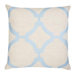 """Piper Collection Blue Linen """"Reynolds"""" Pillow For Sale"""