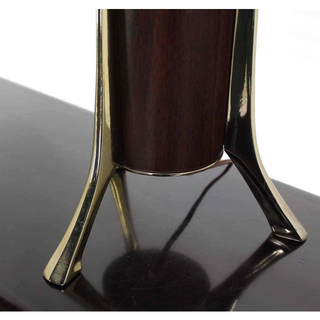 Brass Mid-Century Tripod Base Table Lamp by Laurel For Sale - Image 7 of 8