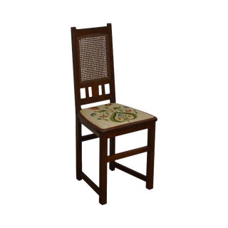 Antique Mission Oak Writing Desk Side Chair For Sale