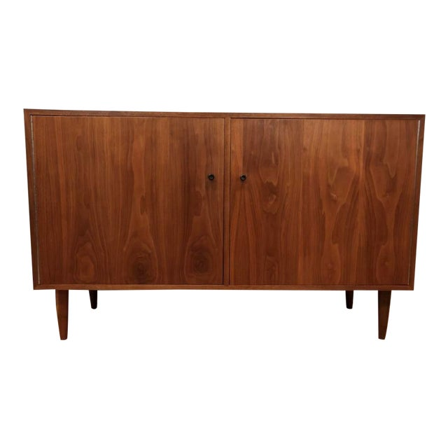 Mid Century Walnut Credenza/Cabinet 1960s For Sale