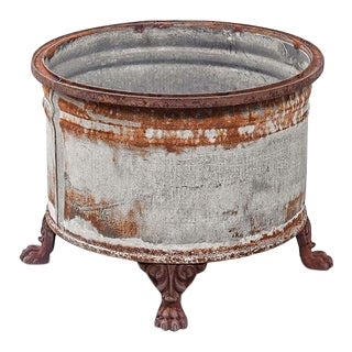 Rustic Iron Clawfoot Planter For Sale