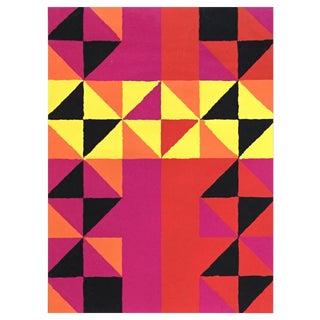 """1960s Op-Art Sidney Budnick Silkscreen """"Forest Fire"""" For Sale"""