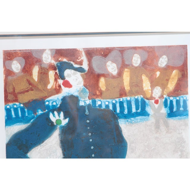 Silver Original Etching Titled Le Rendez-Vous by Theo Tobiasse For Sale - Image 8 of 13