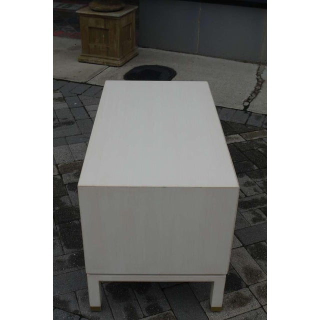 Faux Ivory Low Chest by Dunbar For Sale - Image 10 of 11