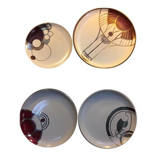 Heath Ceramics Frank Lloyd Wright Design Prototype Plates - Set of 4 For Sale