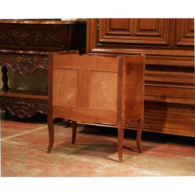 Louis XV Walnut Chest With Stamped Christofle Silver Plated Flatware 181 Pieces For Sale - Image 12 of 13