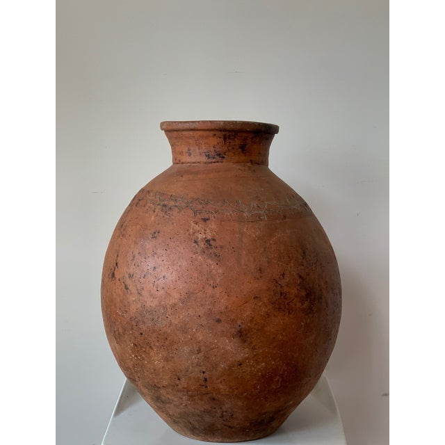 17th Century Spanish Red Terracotta Vessel, Vase, Planter With Low Tap For Sale - Image 4 of 13