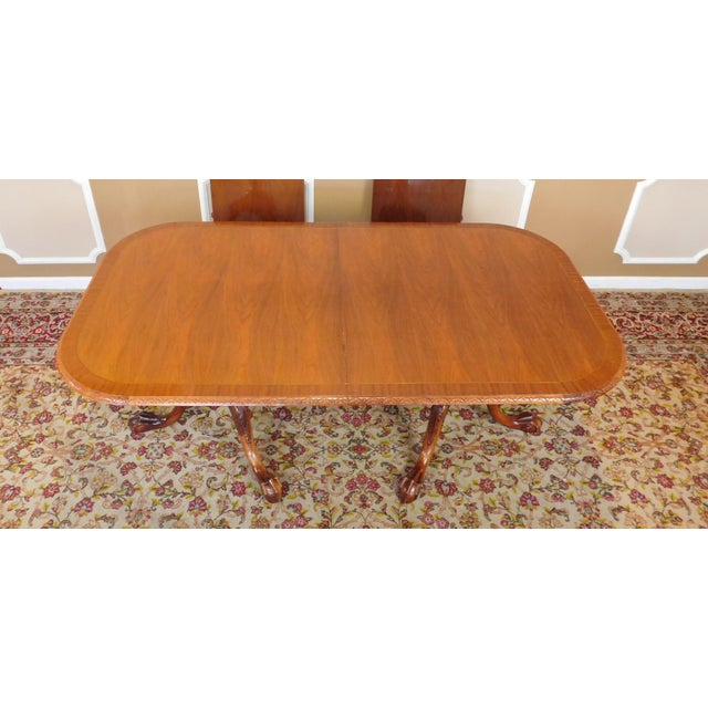 Chippendale Mahogany Banded Dining Room Table - Image 2 of 9