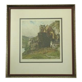 """St Michael on the Danube"" Print by Luigi Kasimir For Sale"