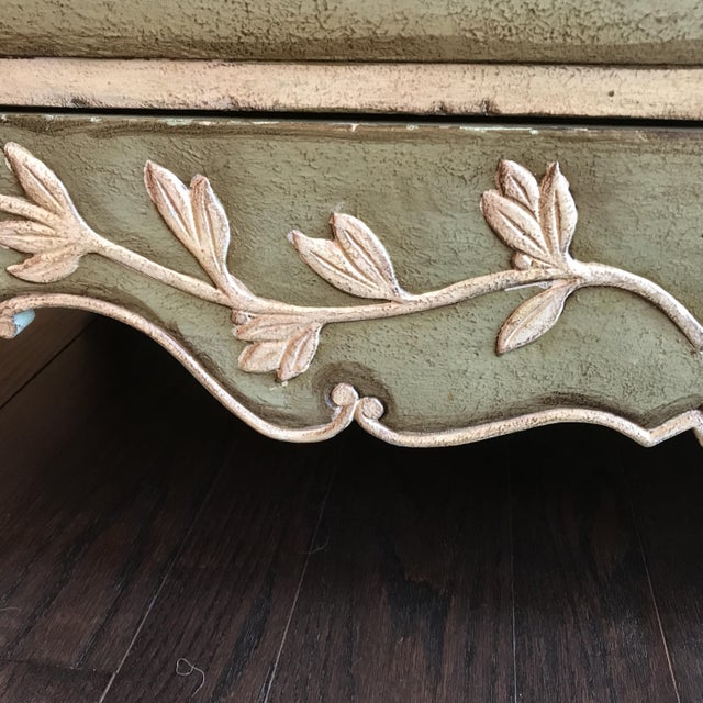 Traditional Light Green With Cream and Gold Sideboard For Sale In Philadelphia - Image 6 of 12