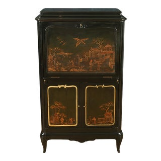 French Lacquered Chinoiserie Secretary For Sale