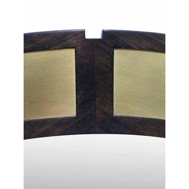 "Large 42"" Round Mirror With Brass Plates - Image 5 of 6"