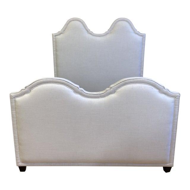 New Queen Size Custom Design Upholstered Linen Bed Frame For Sale
