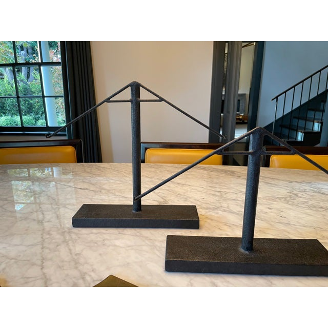 Vintage Architectural Sculptural Decor on Iron Stands - Pair For Sale - Image 4 of 10