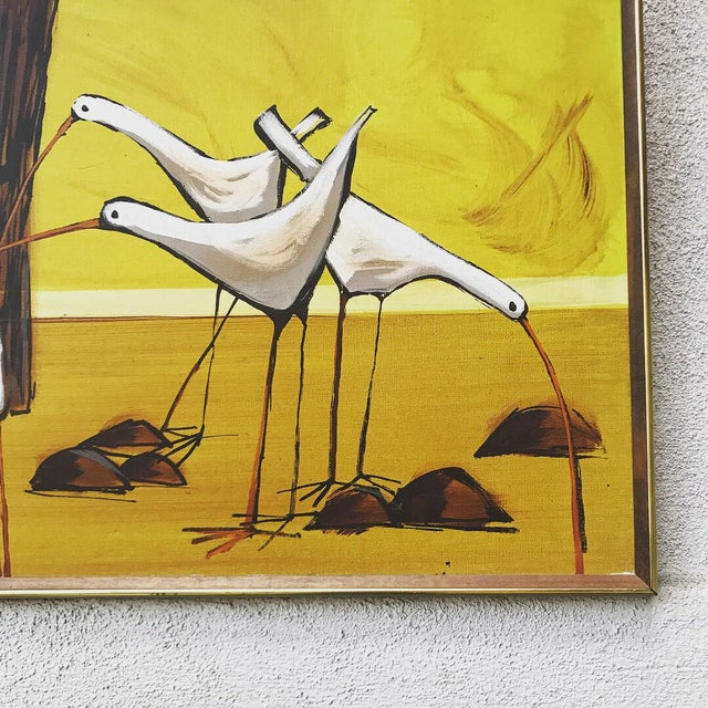 Mid-Century Painting of Seagulls by McCaine For Sale - Image 4 of 7
