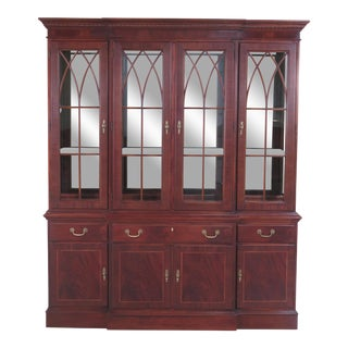 Ethan Allen 18th C. Mahogany Collection Breakfront