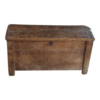 Hand Planed Hewn Trunk Chest