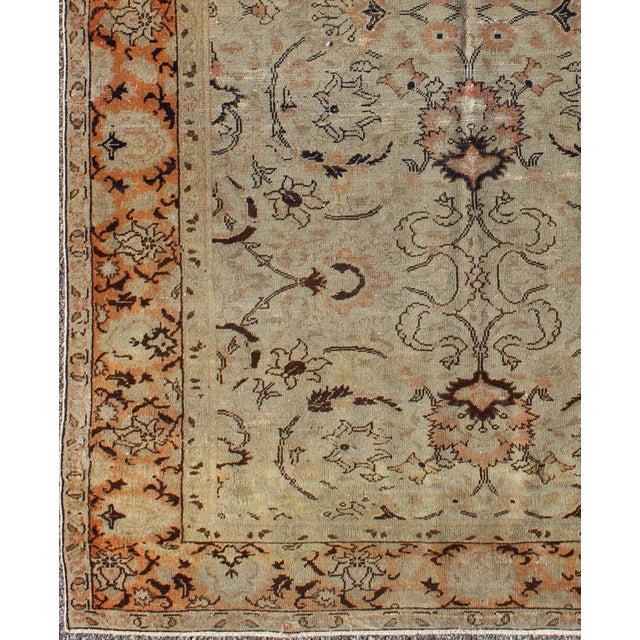 Keivan Woven Arts, El-16369, 1920s Antique Sivas Rug - 3′10″ × 5′5″. The design of this beautiful antique Oushak rug from...