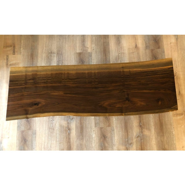 Modern Raw Edge Slab Coffee Table With Hair Pin Legs For Sale In Seattle - Image 6 of 11