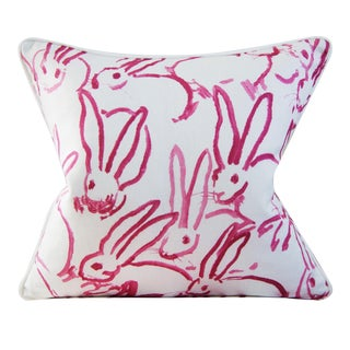 Bunny Hutch in Pink 20x20 Inches With Welt Hunt Slonem Lee Jofa Groundworks For Sale