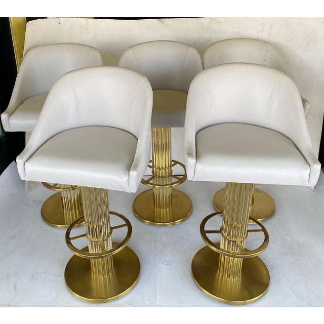 1980s Vintage Designs for Leisure Barstools - Set of 5 For Sale - Image 11 of 12
