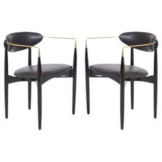 "Mid-Century Modern Dan Johnson ""Viscount Chairs"" - a Pair For Sale"
