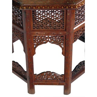 Anglo Indian Octagonal Side/Traveling Table With Brass Inlay Preview