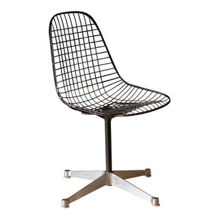 Vintage Mid-Century Modern Eames for Herman Miller Swivel Wire Chair For Sale