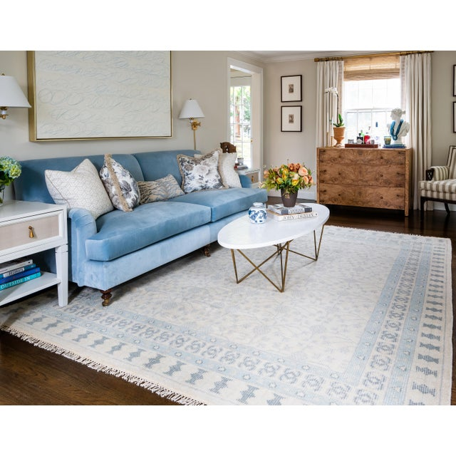 """Erin Gates Concord Sudbury Ivory Hand Knotted Wool Area Rug 5'6"""" X 8'6"""" For Sale In Atlanta - Image 6 of 7"""