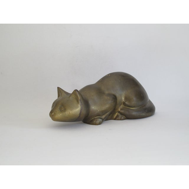 Perched Brass Cat - Image 2 of 8