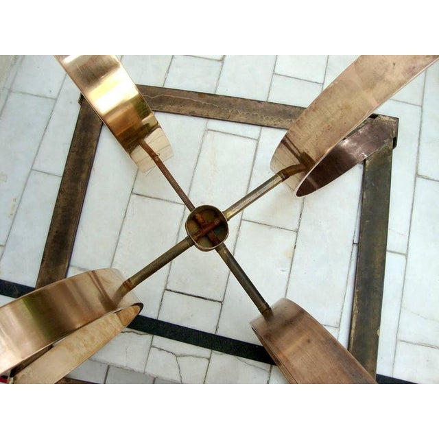 Arturo Pani Sculptural Side Table in Brass For Sale - Image 4 of 8