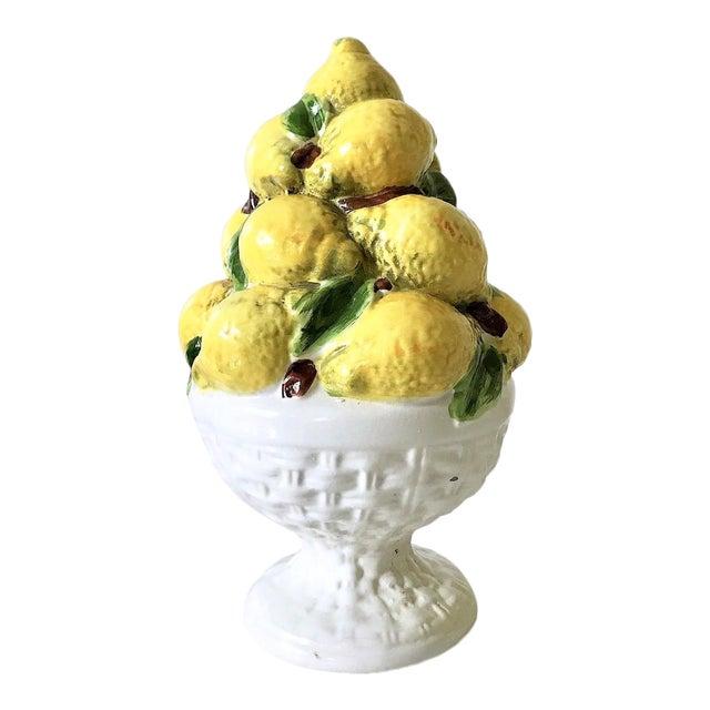 Italian Majolica Lemon Topiary ( 2 Available), Mid-Century For Sale