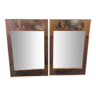Henredon Chinoiserie Mirrors - a Pair For Sale