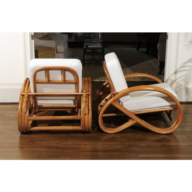 Pair of 1950s Restored Pretzel Loungers For Sale - Image 12 of 13
