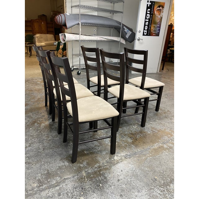 Calligaris Extendable Dining Table + Six Chairs Set For Sale - Image 12 of 13