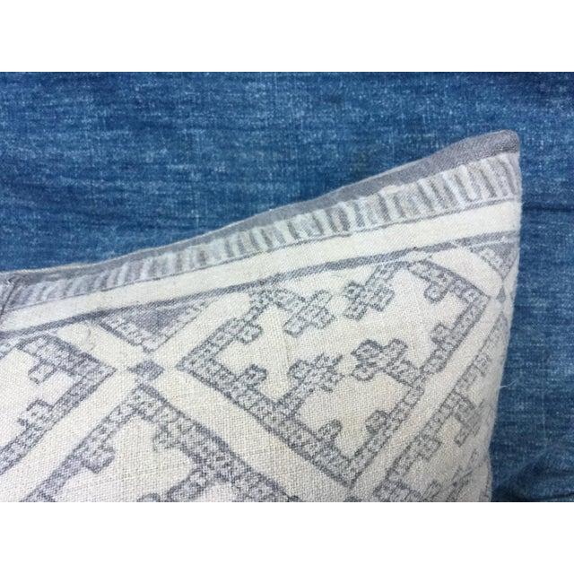 Silver Cross Linen Batik Pillow - Image 4 of 6