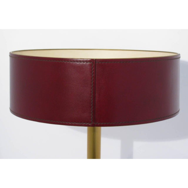 Jacques Adnet Leather-Clad Table Lamp - Image 8 of 8