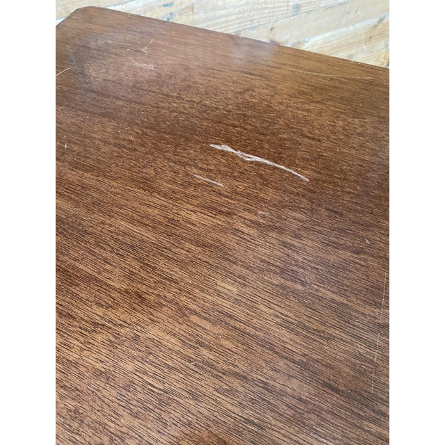 Tan Vintage Split Bamboo Table For Sale - Image 8 of 13
