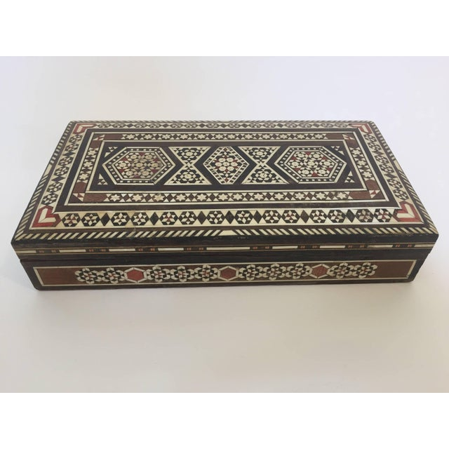 Syrian Inlay Jewelry Wooden Box For Sale - Image 10 of 10