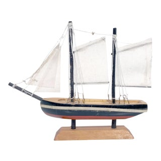 Nautical Wooden Model Sailing Ship