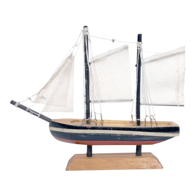Nautical Wooden Model Sailing Ship - Image 1 of 11