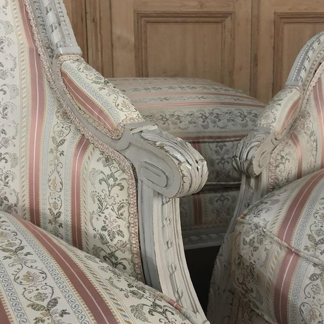 19th Century French Louis XV Chaise Duchesse Brisee (Chaise Lounge) For Sale - Image 9 of 13