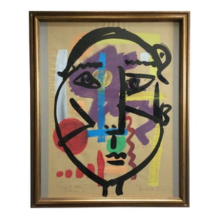 """""""Abstract Face"""" Painting by Peter Keil For Sale"""