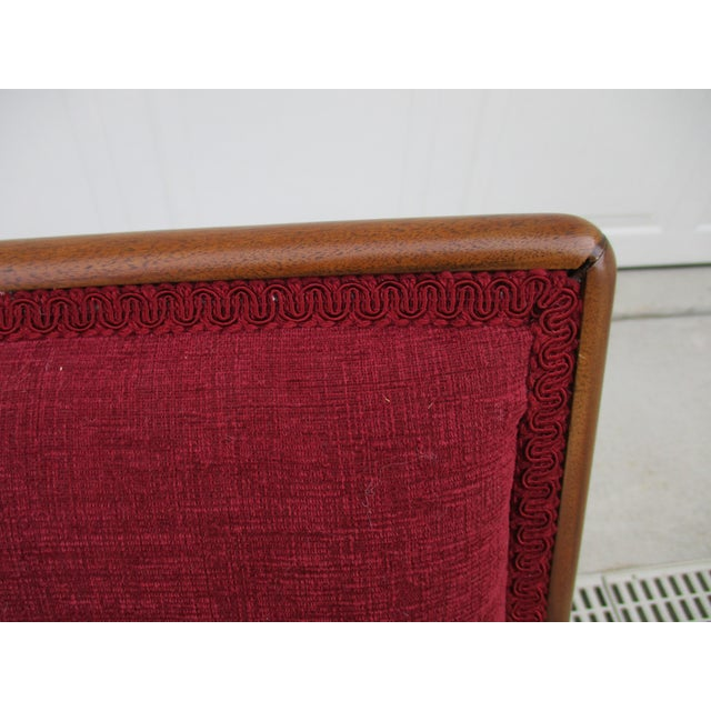 Robsjohn Gibbings for Widdicomb French Style Lounge Chair and Ottoman For Sale - Image 11 of 12