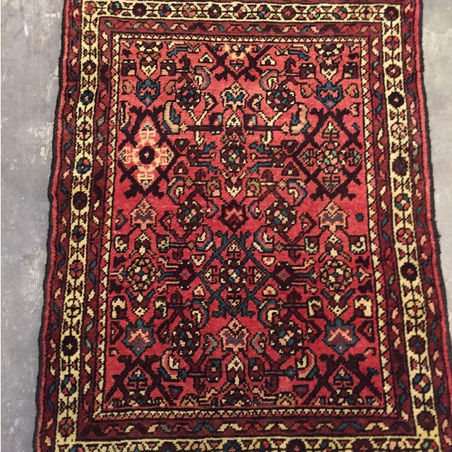 "Hamadan Hand Made Persian Rug - 2'5"" x 3'2"" - Image 3 of 9"