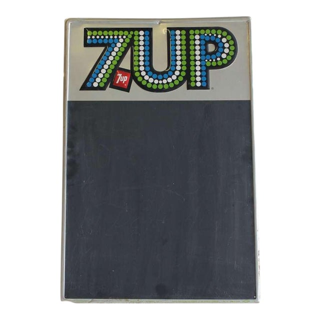 1970's Advertising Chalkboard for 7UP - Image 1 of 2