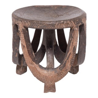 19th Century Hehe Tripod Arched Stool For Sale