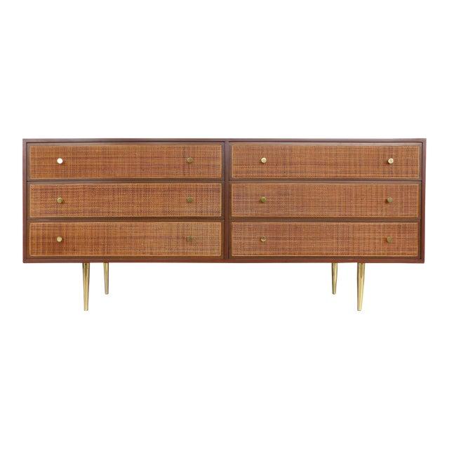 Harvey Probber Woven Cane Front Dresser - Image 1 of 11