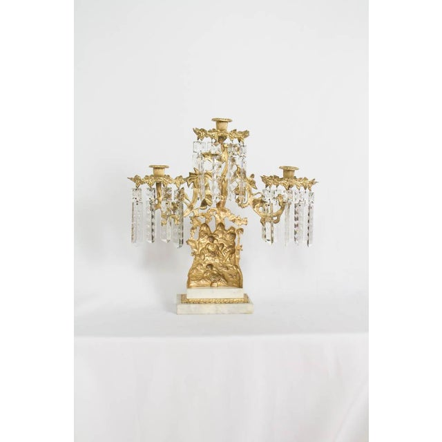 Gilt Bronze Ghirondole With Crystals For Sale - Image 4 of 8