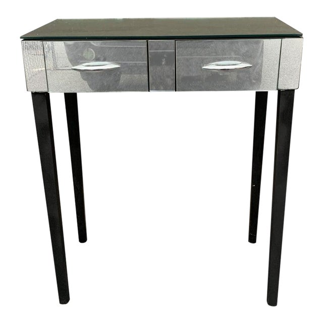 Mid Century Mirrored Vanity Table For Sale